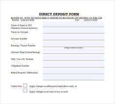 Free Direct Deposit Form Template Word
