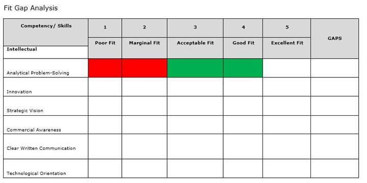Free Gap Analysis Template for Excel 2007 – 2016