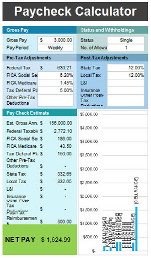 Free Paycheck Calculator Template For Excel 2007 - 2016