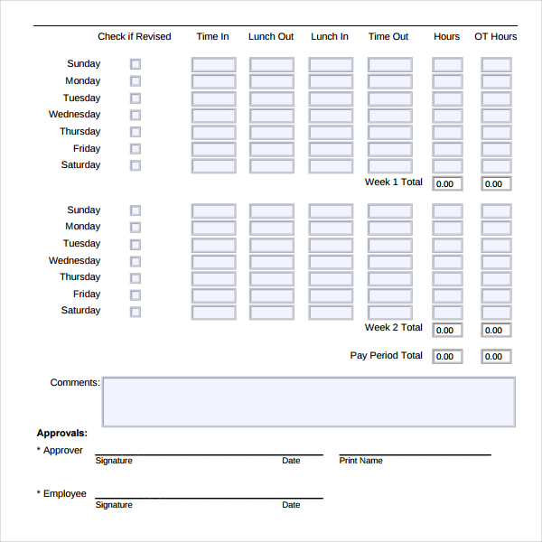 Download Free Time Tracking Template