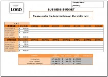 Free Business Budget Template for Excel 2007 – 2016