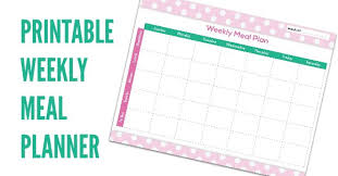 Download Free Weekly Meal Planner Template
