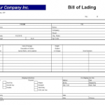 Free Bill Of Lading Template for Excel 2007 – 2016