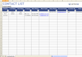 Free Contact List Template for Excel 2007 – 2016