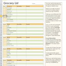 Free Grocery List Template for Excel 2007 – 2016