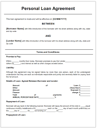 Free Loan Agreement Template