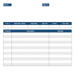 Free Packing List Template for Excel 2007 – 2016
