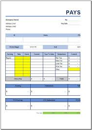open office pay stub template